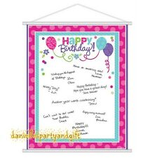 Happy Birthday Sign-In Sheet Hanging Scroll - 270156