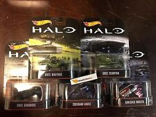 HALO Complete 5 Car Set * 2017 Hot Wheels Retro Series * IN STOCK