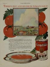 1926 CAMPBELL'S TOMATO SOUP AD / GREAT SCENE WITH TOMATO FARM AND WORKERS...