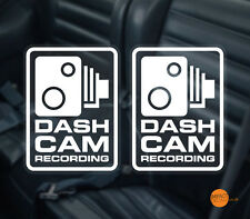 Dashcam Windscreen decal 95x70 / in car CCTV / Dashboard Camera Warning Sticker