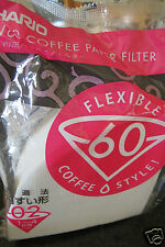 HARIO V60 02 1-4 cup Coffee Paper Filters pack of 100 for making filtered coffee