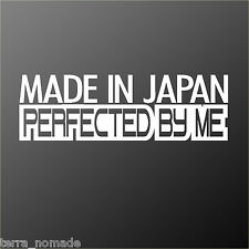 MADE JAPAN JDM Japanese car decal sticker Honda Lexus Mazda Mitsubishi