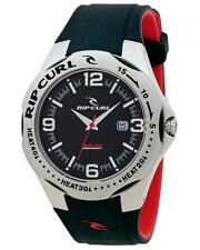 Rip Curl SOLAR BARREL PU Heat Bezel Waterproof Surf Watch New - A2497 Black