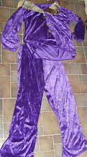 Mens size L-XL 180-200 pounds Halloween costume purple player pimp cheeath print