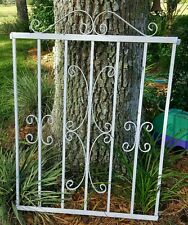 Vintage Wrought Iron Gate Door Window Panel Fence Architectural Salvage Guard