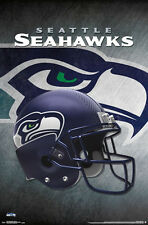 New SEATTLE SEAHAWKS Official Team Logo Helmet Design NFL WALL POSTER