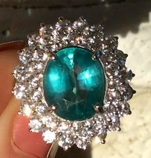 3.53ct Earth Mined Paraiba hue natural Apatite Sterling Silver ring size 6.5