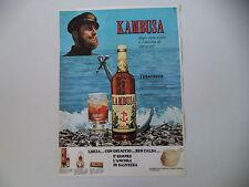 advertising Pubblicità 1967 AMARO KAMBUSA L'AMARICANTE