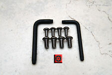 Anti-Theft *BLACK* Security Screws for AUDI FRONT & REAR License Plate Frame