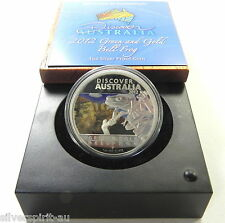 2012 $1 DISCOVER AUSTRALIA BELL FROG 1oz Silver Proof Coin