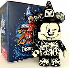"DISNEY VINYLMATION 3"" MICKEY MOUSE SORCERER EACHEZ 2016 WDW BLACK/WHITE VARIANT"