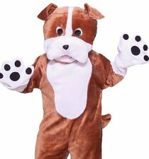 Bulldog Mascot Costume Deluxe Adult Plush Furry Puppy  Bull Dog - Fast Ship -