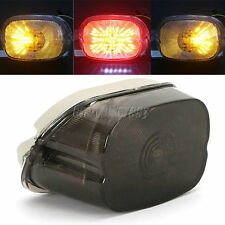 Smoke LED Tail Brake Turn Light For Harley Electra Glide Sportster Softail XL