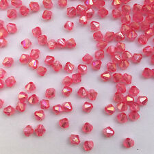 Free Shipping DIY Jewelry 500PCS 4mm 5301 exquisite Bicone Acrylic Beads