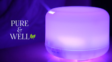 Pure & Well 500ml Essential Oil Color Changing LED Light Aromatherapy Diffuser!!