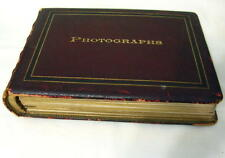 Original 1895 Cabinet Photo Album of SCOTLAND, Perth, Edinburgh, 40 Photos