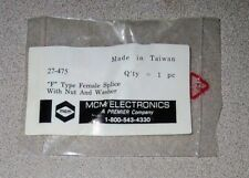 MCM F Type Female Splice w/Nut and Washer 27-475 - New!