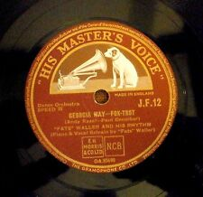 "RARE FATS WALLER RHYTHM 78 "" GEORGIA MAY / DON'T LET IT BOTHER YOU"" HMV JF 12 E+"