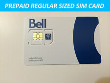 NEW Bell Mobility Standard Regular SIM Card Prepaid Postpaid Canada Travel