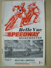 BELLE VUE v SHEFFIELD 2nd AUGUST 1969 KNOCK-OUT CUP SPEEDWAY PROGRAMME