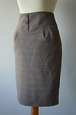 Ladies Next Beige Checked Skirt Size 6 NWT RRP £25.00