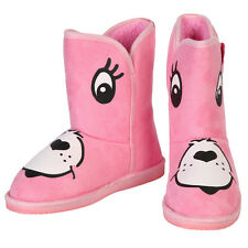 Iron Fist Care Bears Stare Cheer Bear Face Women's Pink Fugg Boots - 7