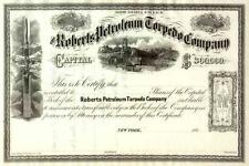 186_ Roberts Petroleum Torpedo Stock Certificate - Historic Pa oil company