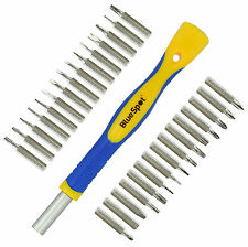 31Pc Magnetic Precision Screwdriver Set Phillips Slotted Torx Hex Tri Wing Star