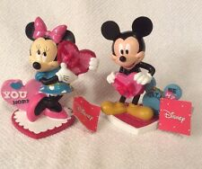 Disney Mickey Mouse And Minnie Mouse Valentines Figurines Figures Hearts Gift