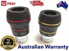 "2 x Dual ED 1.25"" eyepiece for telescope - Choose your Focal Length! Flat field"