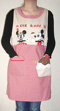 love kitchen red Disney mickey minnie cake Adult Kitchen Apron Cooking CUTE GIFT