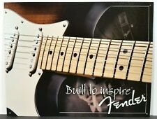 FENDER BUILT TO INSPIRE GUITAR COLLECTIBLE TIN  METAL SIGN MUSIC WALL DECOR 1859