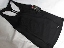 Under Armour CoolSwitch Black Trail Racerback Fitted UPF 50+ Tank Top, size M