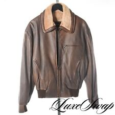 Seraphin Made in France Deerskin Leather Shearling Bomber Coat 2pc Vest 46 A1P