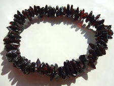 Natural  Baltic Amber Bracelet (dark cherry)  -On  Elastic Stretch