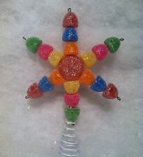 "5"" Sugar Coated Gumdrop Christmas Tree Topper Sweet Candyland Theme"