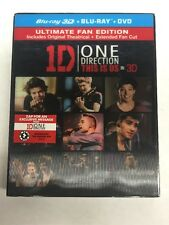 BLU RAY 3D & DVD 1D One Direction This is Us in 3D Ultimate Fan Edition NEW