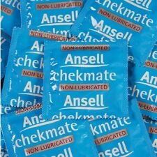 24 ANSELL CHEKMATE NON-LUBRICATED CONDOMS Checkmate Condom FREE POST RRP: $19.95