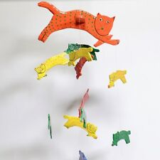 Vintage CAT Indonesia Hand-Cut & Painted Wood Mobile #3