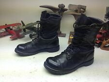 VINTAGE 1961 MILITARY USA BLACK LEATHER LACE UP ENGINEER BOSS ARMY BOOTS 7.5 D