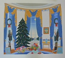 "Thomas McKnight  ""White House Blue Room ""  Signed Numbered Serigraph  with a COA"