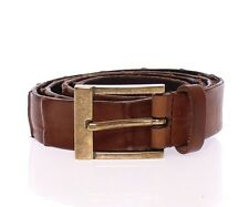 NWT $340 DOLCE & GABBANA Brown Leather Logo Belt Cintura Gürtel s. 95cm / 38inch