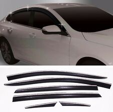 Autoclover Smoke Sun Rain Visor 6P Cover For GM Chevrolet Malibu 2016+