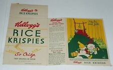 1938 Kelloggs Rice Krispies Cereal Box w/ Vernon Grant fairytale back Jack & Jil