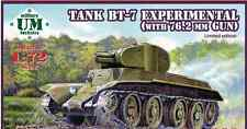 """TANK BT-7 """"EXPERIMENTAL"""" WITH 76,2 MM GUN(LIMITED EDITION) 1/72 UNIMODEL UMT 668"""