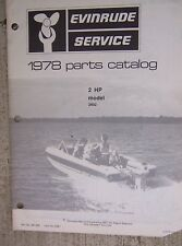 1978 Evinrude 2 HP Outboard Motor Parts Catalog Model 2802 Marine Boat Engine L