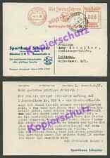 o. Ganzsache ASMÜ Schuster Bergsport Alpinimus Freistempel München Tettnang 1938