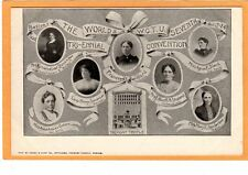 Temperance Postcard - WCTU Boston Convention 1924 Frances Willard - Suffrage