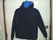 "Boy's, ""HOODED REVERSIBLE WINTER JACKET"", size 12/14, Blue & Light Blue, warm!!"