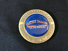 United States Navy USN Golden Dragon Challenge Coin Crossing The Dateline